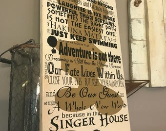 Disney Quotes Wedding Anniversary Personalized In This House Disney Family Rules