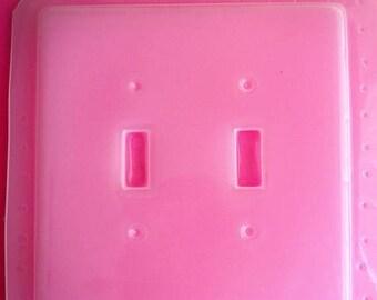 SUMMER SALE Beveled Double Light Switch Plate Cover Flexible Plastic Resin Mold For Resin