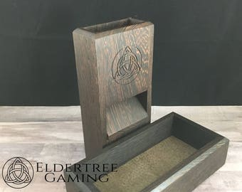 Premium Dice Tower with dice storage - Wenge - Eldertree Gaming