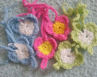 cute crochet butterfly barefoot baby sandals 0- 12 months 3 for 2 offer
