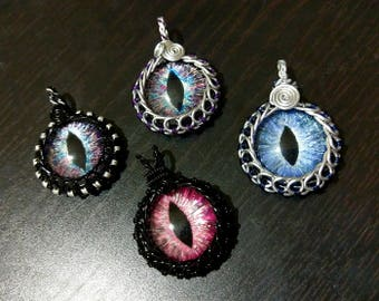 For Kylie W: Custom Hand-Painted Pendant - Circular Wrap