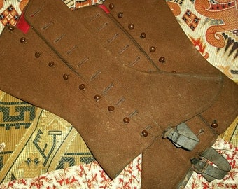 Antique Spats for Child or Small Adult