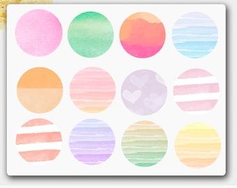 Round Circles Stickers, Round Stickers, Round Planner Stickers, Planner Stickers, Stickers