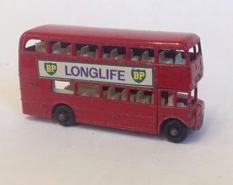 BP matchbox double decker bus