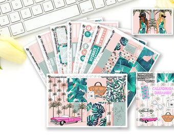 California Dreaming || GLOSSY || Weekly Planner Sticker Kit