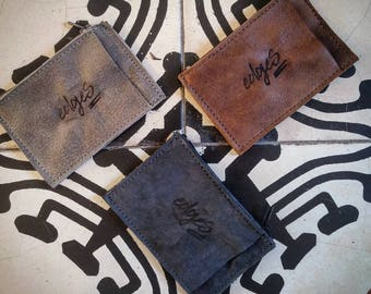 Mini wallet. Credit Card Case. Leather Wallet. Mini Zip Wallet, Small leather wallet, Zip wallet, Leather Card holder,Men's Leather Wallet