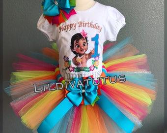 Handmade Moana tutu set / Baby Moana tutu set / Moana tutu outfit / Moana birthday shirt / baby moana birthday shirt / moana birthday outfit