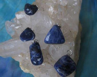 Sodalite Pendant, Sodalite Tumbled Pendant, Sodalite Crystal Pendant, Sodalite, Sodalite Jewelry, Blue Sodalite, Blue Sodalite Pendant