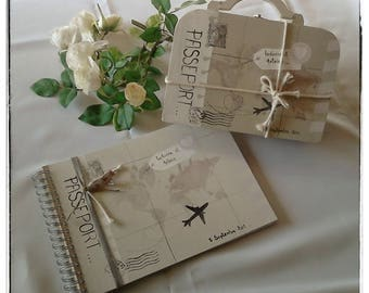 Wedding suitcase and guest book set
