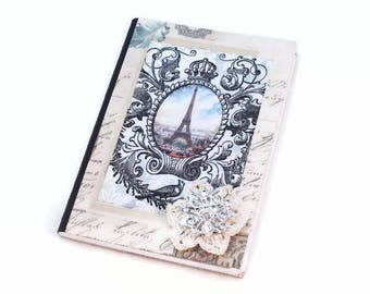 Small Journal, Pocket Notebook, Mini notebook, Eiffel Tower, French Inspired, Password Notebook, Dream Journal, Small Notebook, Food Diary