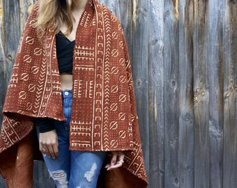 SOLD OUT - Rust Bogolan (mud cloth) textile