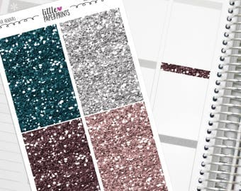 "32 Headers - ""Home Sweet Home"" Glitter Series Stickers - Glitter Sparkle Header Planner Stickers"