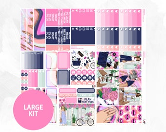 Gorgeous Large Kit | Full Boxes Checklists Functional Boxes Headers Sidebar Extras Washi | Matte Glossy Planner Stickers