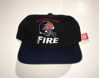 Vintage Birmingham Fire WLAF Snapback