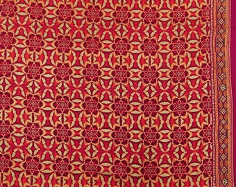 """Floral Print Cotton Fabric, Beige Fabric, Sewing Crafts, Upholstery Fabric, 45"""" Inch Cotton Fabric By The Yard ZBC8377B"""