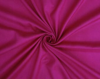 "Magenta Rayon Fabric, Indian Dress Fabric, Home Decor, Quilting Fabric, Sewing Accessories, 40"" Inch Fabric By The Yard PZBR3K"
