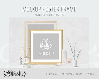 Mockup Poster Frame - Instant Download - PSD Layered file - 2 kinds of frames