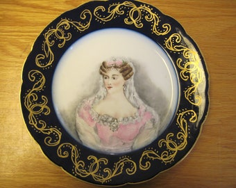 Limoges-Jean Pouyat Plate-Duchess Of Berry - Item #1613