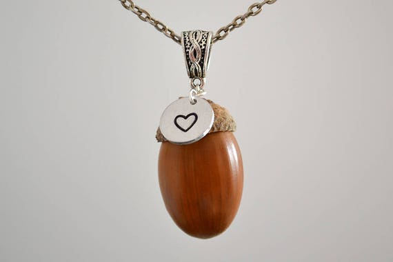 Acorn pendant necklace acorn pendant acorn necklace acorn te gusta este artculo mozeypictures Image collections