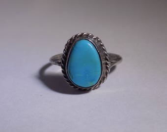 Sterling silver southwestern midi ring size 6 3/4
