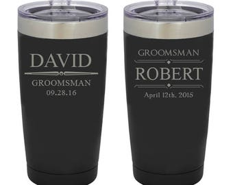 Personalized Tumbler, Insulated Tumbler, Engraved Cup, Groomsmen Gift, Best Man Gift, Wedding Favors
