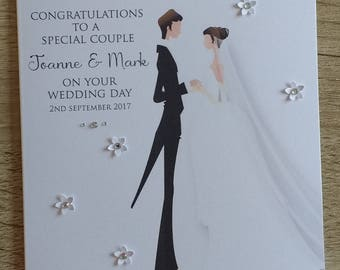 Bride & Groom Wedding Card
