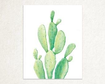 Prickly Pear Watercolor Print
