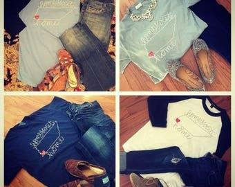 Home Sweet Home Tennessee 901 shirt, Comfort Colors, Raglan
