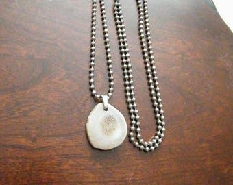Deer antler jewelry, antler necklace, antler slice necklace, boho jewelry, natural jewelry, rustic necklace, bone jewelry