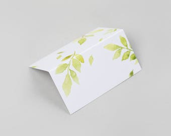 Botanical Wedding Place Cards / Floral Wedding Place Cards / Watercolour Wedding Place Cards