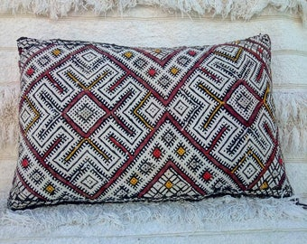 Decorative, vintage Berber pillow case, handmade.