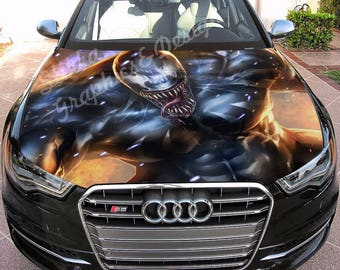 Vinyl Car Hood Full Color Wrap Graphics Decal Venom Spider-Man Sticker #2