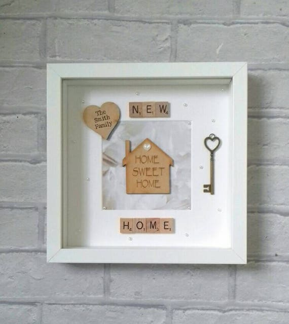 New Home Gift/Personalised New Home Frame/ Our First Home