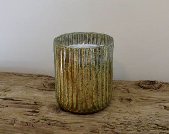 Seafoam Ridge Mercury Glass Soy Candle