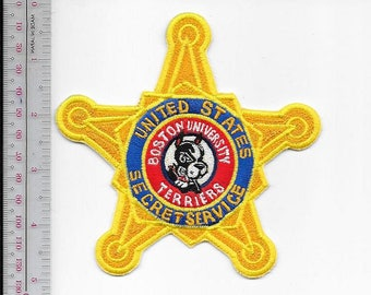 US Secret Service USSS Massachusetts Boston University Terrier Star Agent Service Patch