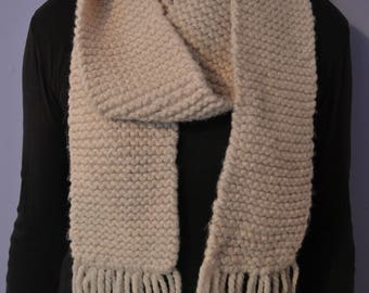 Hand Knit Long Scarf