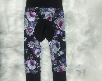 Pants evolutionary floral - Black 6 m - 3 years