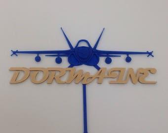Custom F18 Jet Fighter Cake Topper