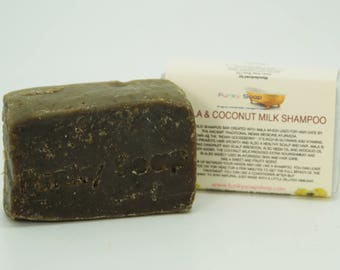 1 piece  Amla & Coconut Milk Shampoo Bar, 100% Natural Handmade 65g