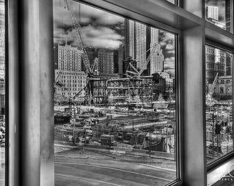 Ground Zero Photograph, New York City Print, Ground Zero NYC, NYC Photo, New York Photo, New York Print,
