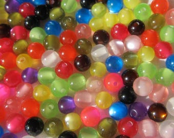 50 beads of resin acrylic 5/6 mm in diameter