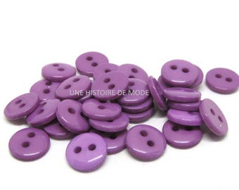30 Purple 9 mm resin buttons sewing