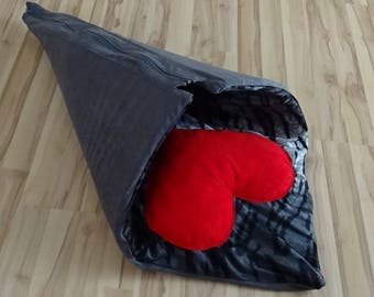 UniCat 2in1 Sleeping Mat/Tunnel For Cats - cat furniture, cat bed