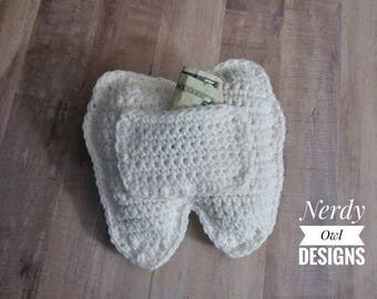 Crocheted Tooth Fairy Pillow