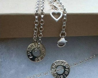 Miles Apart.Friends Forever Bracelet set