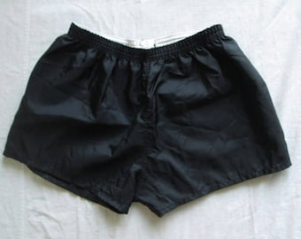 Falcon Sportswear Limited Mens Black Nylon Athletic Shorts Size 36/38 Used Condition