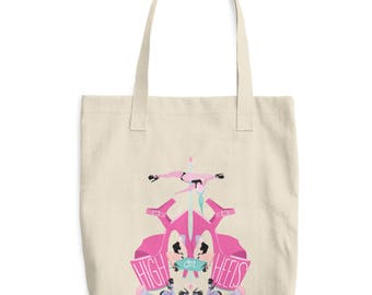 High On Heels Pole Dance Canvas Tote Bag