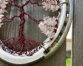Rose Quartz Healing Horseshoe