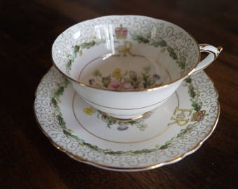 Paragon Queen Elizabeth II CoronationTeacup and Saucer - 1953, # A.1456