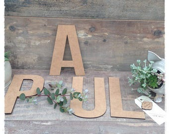 Name height 15 cm 3mm thick wood letter